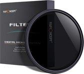 K&F Concept 67mm variabele ND2-ND400 filter MC ND fader grijsfilter