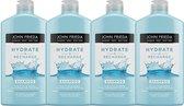 John Frieda Hydrate & Recharge Shampoo - 4x 250 ml - Voordeelverpakking