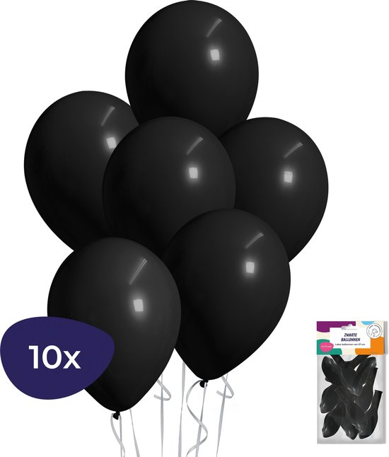 Zwarte Ballonnen - Helium Ballonnen - Halloween Decoratie - Verjaardag Versiering - 10 stuks