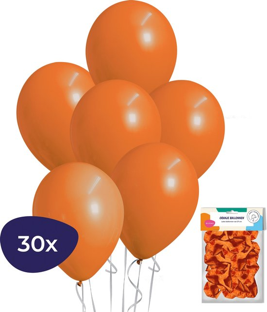 Oranje Ballonnen – Helium Ballonnen – Voetbal Versiering – 30 stuks
