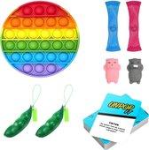 Fidget Toys - Pop it - Mochi - Pea popper - Mesh and marble - 8 stuks