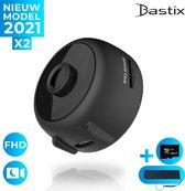 Bastix® X2 Verborgen Wifi Camera Met App - Draadloze Action Spycamera - IP Beveiligingscamera – Met Bijgeleverde SD Kaart 128GB, Powerbank, 2 in 1 usb 3.0 kaartlezer