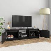 vidaXL Tv-meubel 120x30x35,5 cm spaanplaat zwart  VDXL_800568