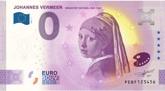 Afbeelding van het spel 0 Euro Biljet 2021 - Johannes Vermeer - Meisje met de Parel