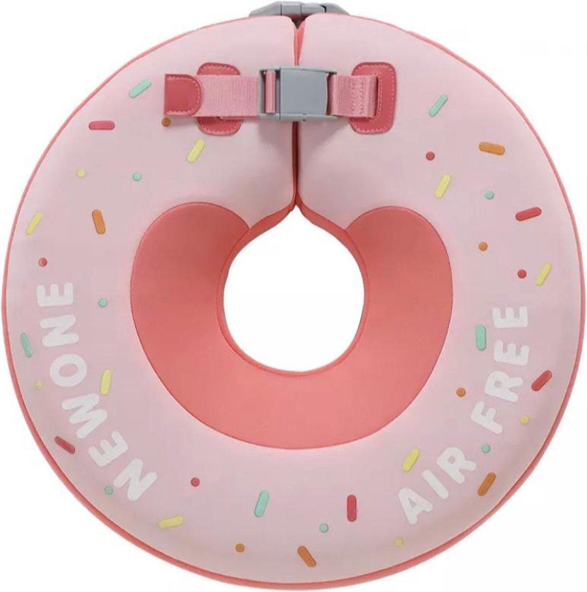 Baby Float, baby zwemband, Nekring, Baby Spa - Donut Roze