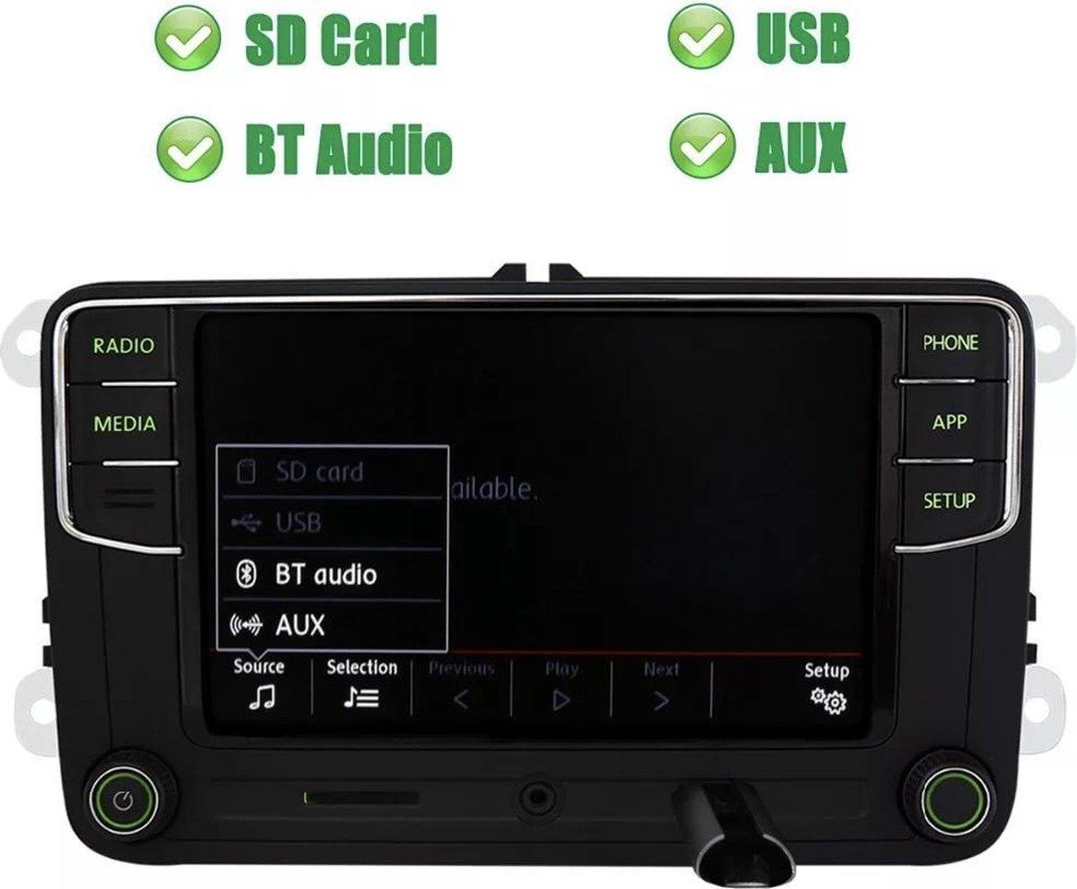 RCD330 NoName CarPlay + Android Auto Skoda Octavia Fabia Rapid Roomster Superb Yeti Bluetooth USB SD kaart AUX