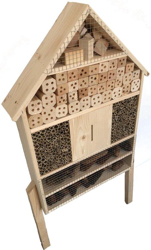 GARDEN SPIRIT Insectenhotel Bijenhotel Vlinderhotel - 12 x 49 x 79 cm - 12,5 kg Vrijstaand