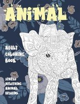Adult Coloring Book - Animal - Stress Relieving Animal Designs
