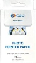 G&G Zelfklevend ZINK papier - 20 stuks (7.6 x 5cm)