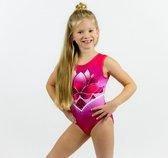 Sparkle&Dream Turnpakje / Gympakje Yara Roze/Paars - INT | maat 110/116  - voor turnen en gymnastiek