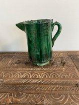 Tamegroute Karaf| 20 cm groen | Marokkaanse Aardewerk Groen