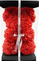 Roses of Eternity - Rose bear met giftbox 25 cm - rozen beer - valentijn cadeautje vrouw - rose teddy -  moederdag cadeau