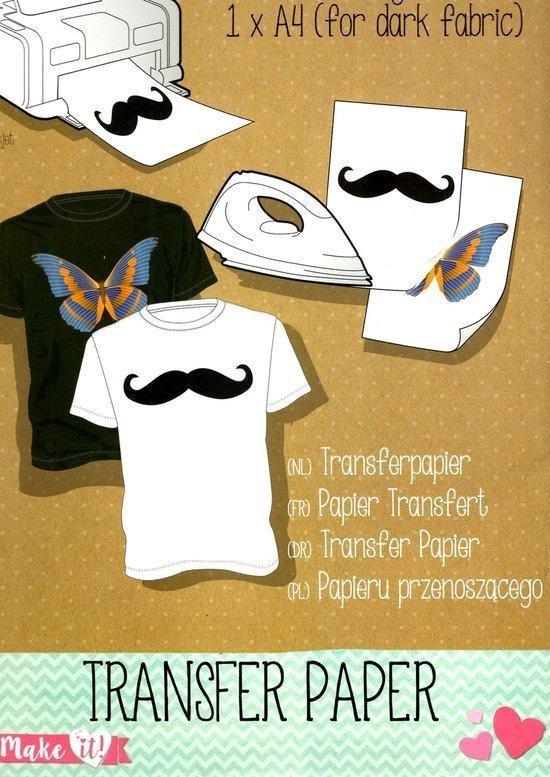Afbeelding van Transfer papier voor kleding / textiel - papier voor kleding