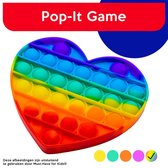 "Must-Have for Kids® | Pop It ""Rainbow"" Hartje - Fidget Toy - Pop It Hart - Speelgoed Meisjes & Jongens - Pop It - Regenboog Pop It"