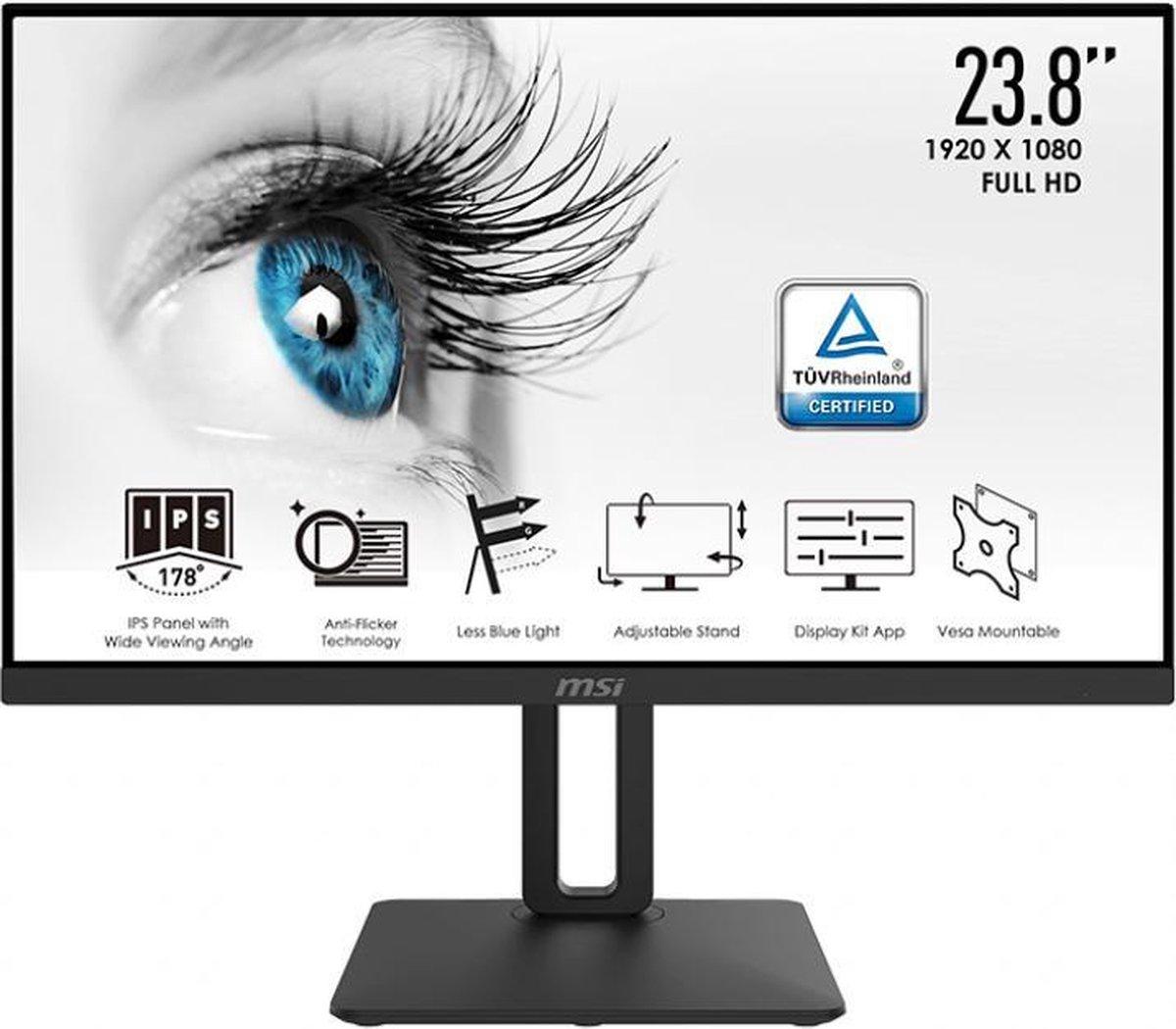 MSI Pro MP242P – Full HD IPS Monitor – 24 inch