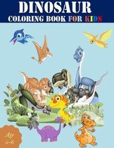dinosaur coloring book for kids age 0-6: Great Gift For Boys & Girls