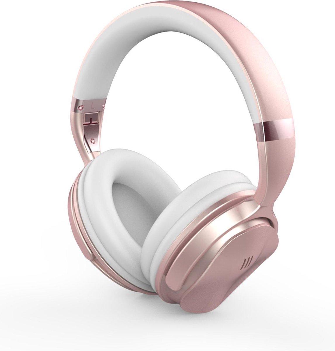 YONO Noise Cancelling Hoofdtelefoon ANC80 – Over-Ear Koptelefoon Bluetooth – Draadloos – Rose Gold