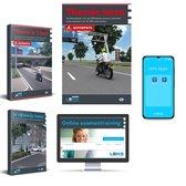 Motor Theorieboek 2021 met 50 Online Examens + Samenvatting + Apps + CBR Rijbewijs A Halen - TheorieTotaal - Lens Verkeersmiddelen 2021