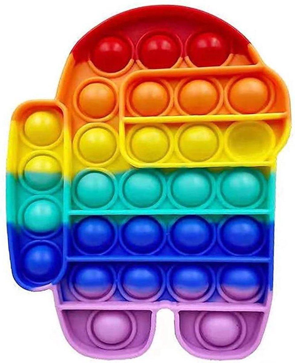 POP IT fidget toy    Among us Regenboogkleur