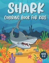 Shark Coloring Book For Kids Ages 4-8