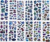 12x 3D Foam Stickervel - 130+ coole kleuterstickers! -  Dino's - Auto's - Dieren - Pororo - Planes - Octonauts - Stickerset - Kinderen - School - TV - Disney Action Figuren - Knutselen - Jongens - Jonge Kinderen