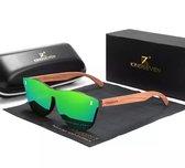 KingSeven - Green Oculos Bamboo UV400 en Polarisatie Filter