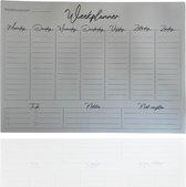 3BMT Weekplanner papier - met to do lijst en plakrand - 60 stuks