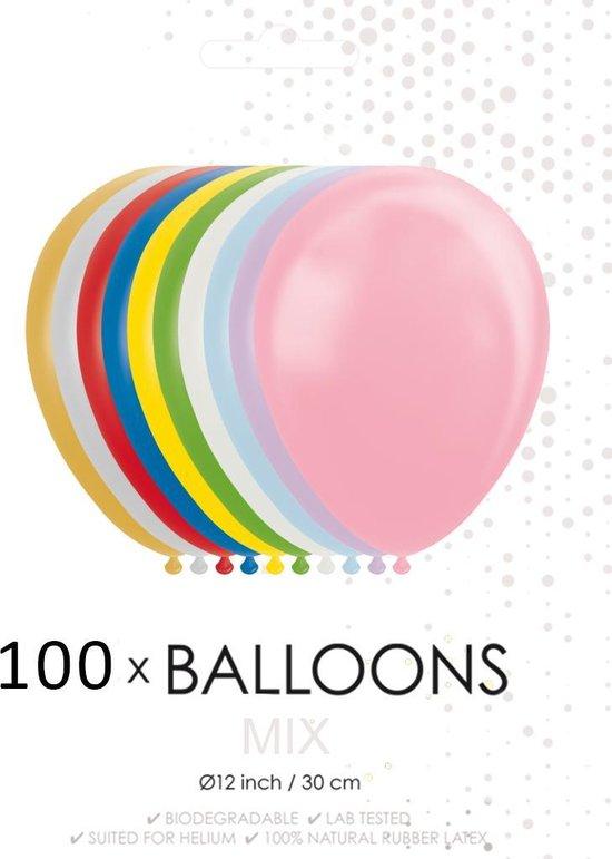 100 ballonnen mix 12 inch.