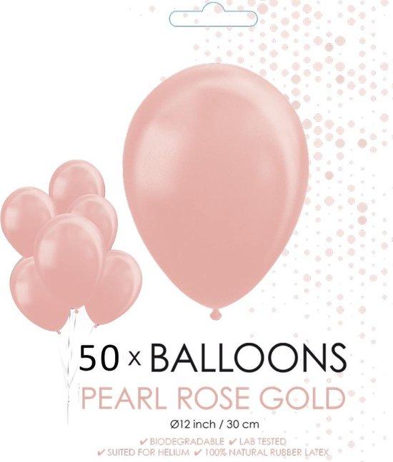 Globos Ballonnen 30,5 Cm Latex Roségoud Parelmoer 50 Stuks