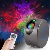 Gutos LED Sterrenhemel Projector - 3D effect - 360 ° rotatie - 7 kleuren - Galaxy projector - Star projector - Galaxy lamp - Verlichting - Projectorlamp met afstandsbediening - Aurora effect nachtlampje - Kinderen - Volwassenen - 360 graden -