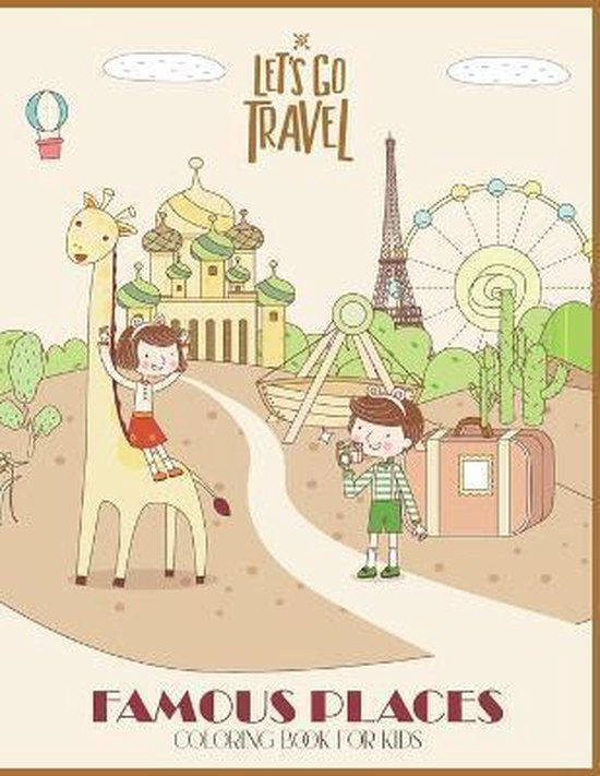 Famous Places Coloring Book for kids