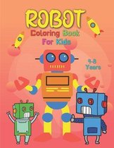 Robot Coloring Book For Kids 4-8 Years