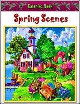 Spring Scenes Coloring Book