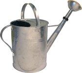 Gieter van zilverkleurig zink 9 liter met broeskop - Gieters van verzinkt metaal