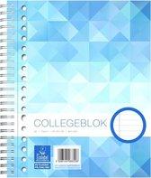 Work Collegeblok formaat A5 17-gaats gelijnd 160 bladzijden - 1 stuk