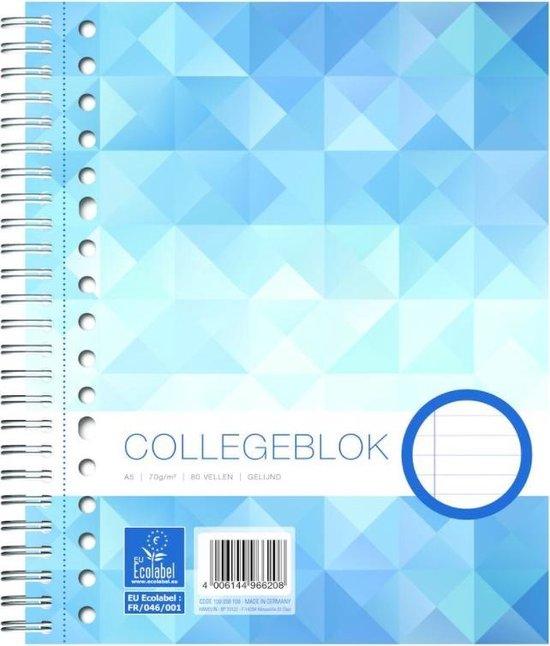 Afbeelding van Work Collegeblok formaat A5 17-gaats gelijnd 160 bladzijden - 1 stuk