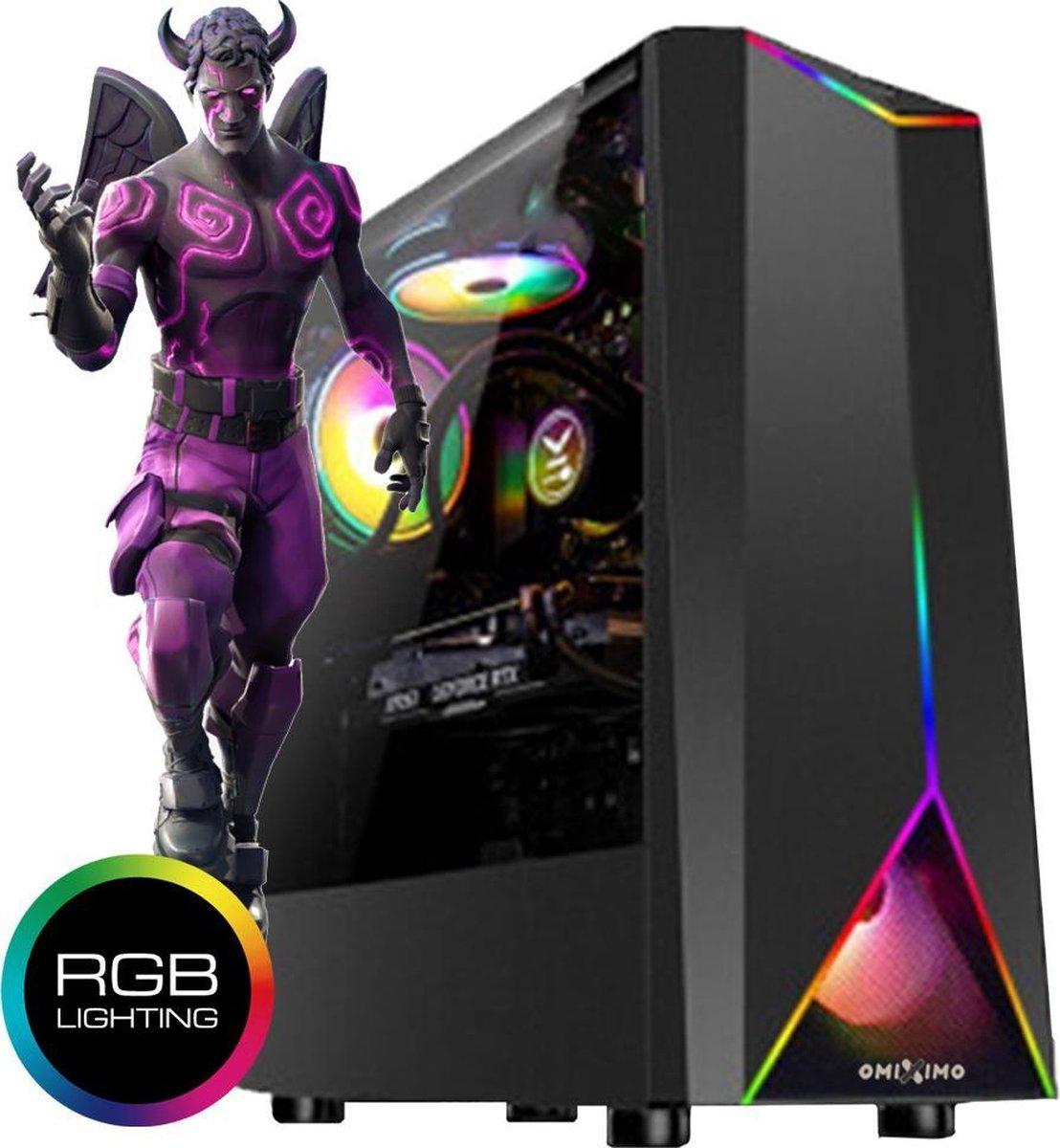 omiXimo | AMD GeForce GTX1030 Gaming PC | 8 GB | 500 GB SSD