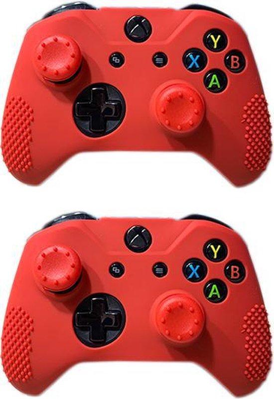 Siliconen controller hoes – Rood – 2 stuks – Geschikt voor Xbox One