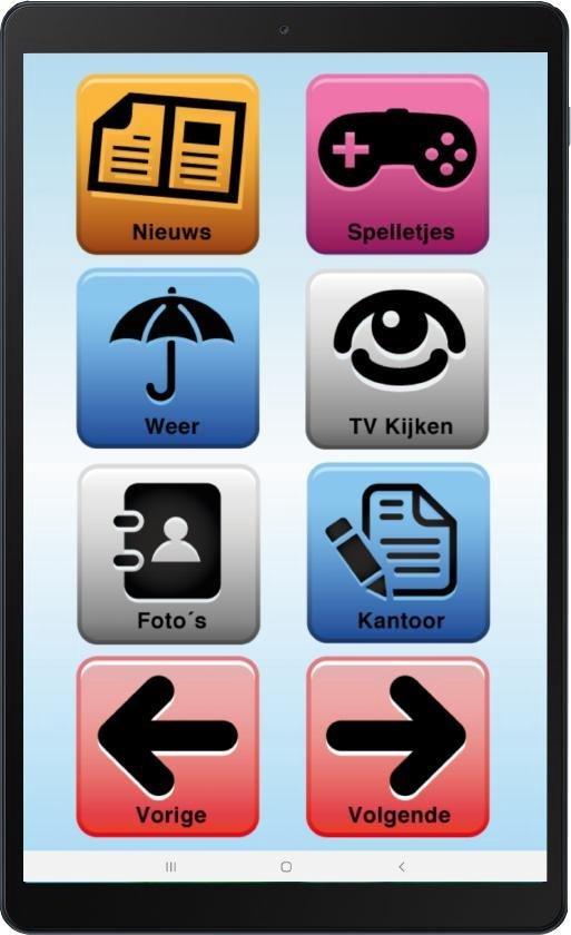 Senioren Tablet 32gb Wifi/4G  (De officiële SeniorenTab op basis van Samsung Tablet)