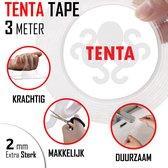 TENTA® Dubbelzijdig Tape - Montagetape - 3 Meter - Super Sterk - Transparant - Waterproof - Herbruikbaar