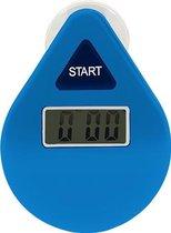 Douchewekker - Douchetimer - Doucheklok - Showertimer - Digitaal - Waterdruppel vorm - Voor douche, bad en keuken - Waterproef - 5 minuten countdown - Blauw