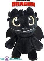 Hoe tem je een draak Pluche Knuffel Baby Toothless (Zwart) 23 cm | Black Dragon and Friends | Toothless, Night Fury, Stormfly, Meatlug, Boneknapper, Gronckle, Hookfang | Draak Plush | Speelgoed voor kinderen | how to train your dragon plush toy
