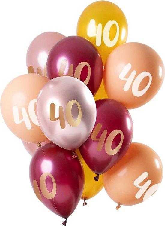 Ballonnen 40 Jaar Roze 30cm 12st