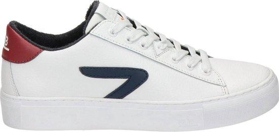 Hub heren sneaker - Wit blauw - Maat 44