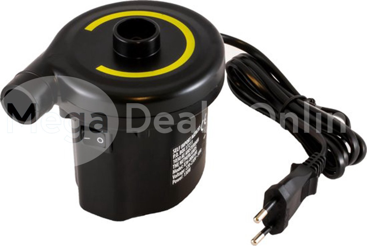 REDCLIFFS  Elektrische pomp luchtbed/zwembad - 220-230 Volt - 130W -Luchtbedpomp - Opblaas Pomp