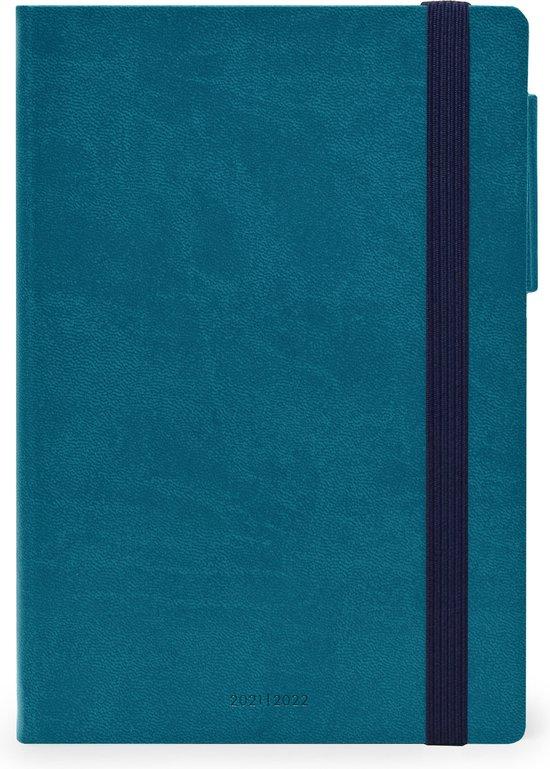 Afbeelding van LEGAMI schoolagenda 2021/2022 - 18 maanden - Week + notitiepagina - PETROL BLUE