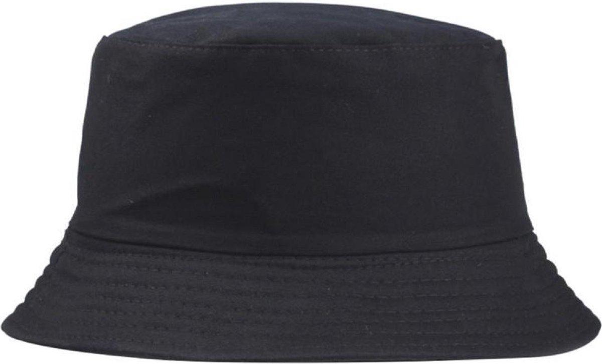 Bucket Hat · Unisex · Festivalhoedje · Regenhoedje · Vissershoedje · Zonnehoedje · Hoed · Emmerhoed · Zon · Zwart · Donkerbla...
