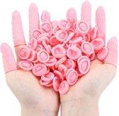25 x Latex Vingerbeschermer Roze - Vinger Condoom - Horeca - Electronica - Schoonheidsspecialist - Pedicure