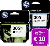HP 305 - Inktcartridge 305XL zwart & 305 kleur + Instant Ink tegoed