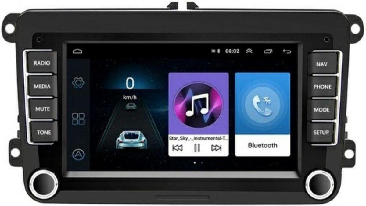 Android Autoradio Navigatie - Volkswagen Polo Golf / Seat / Skoda - Bluetooth Apps Maps muziek